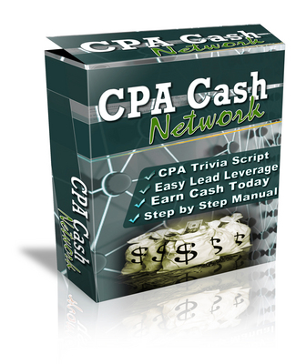 Product picture The CPA Cash Network Script with Resale rights